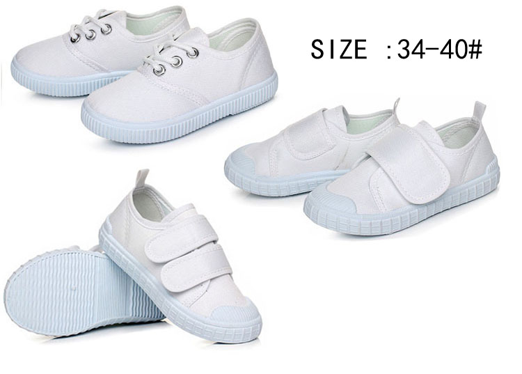 Hot sale simple style Unisex White School shoes