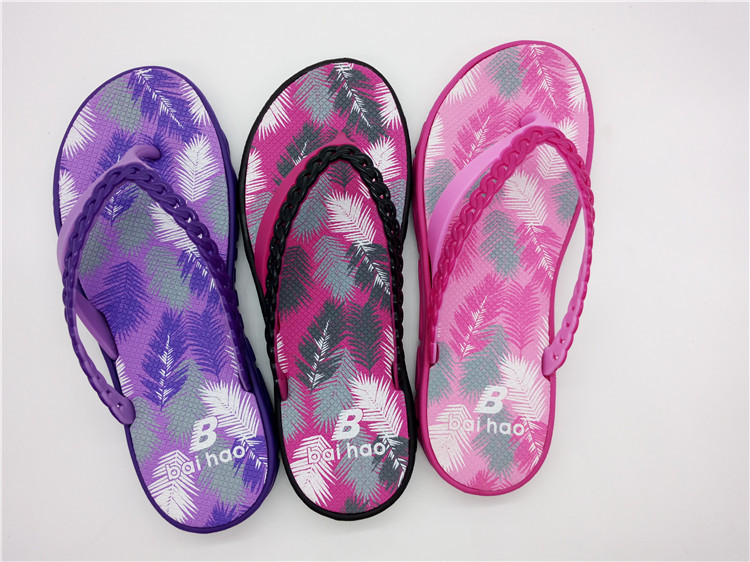 Fashion women flip flop shoes  beach shoes(FBH798-6)