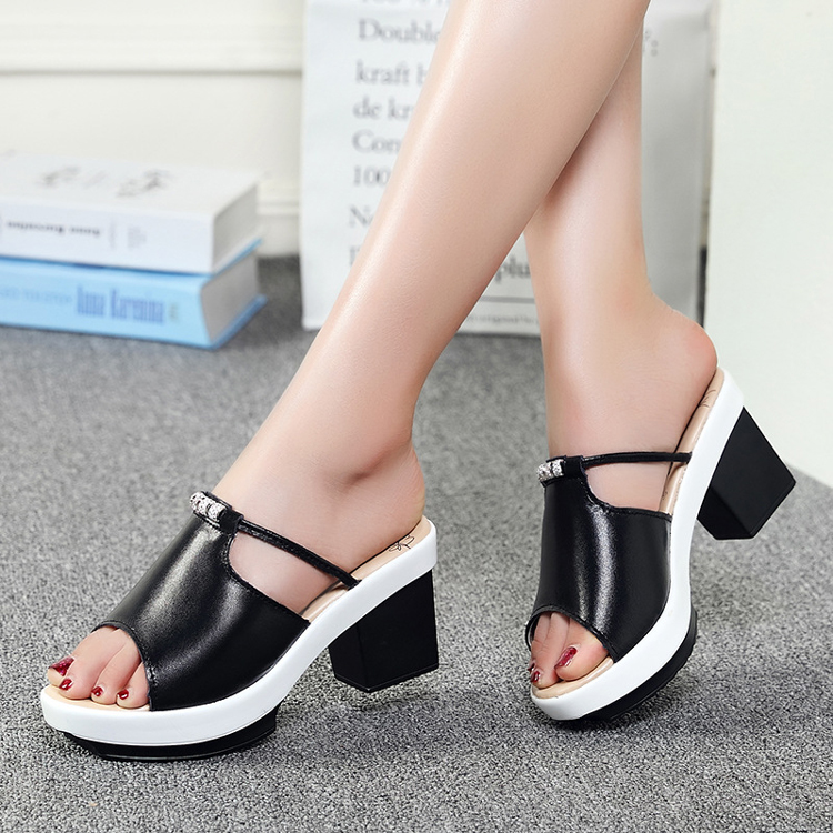 Hot sale women casual sandal shoes high shoes(FTS1011-7)