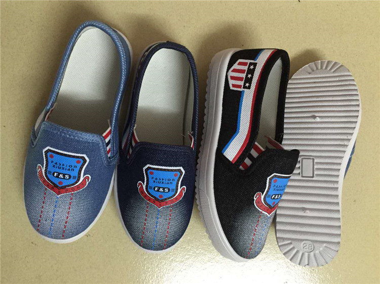 Classic of children denim shoes slip-on shoes (FPY1014-3)