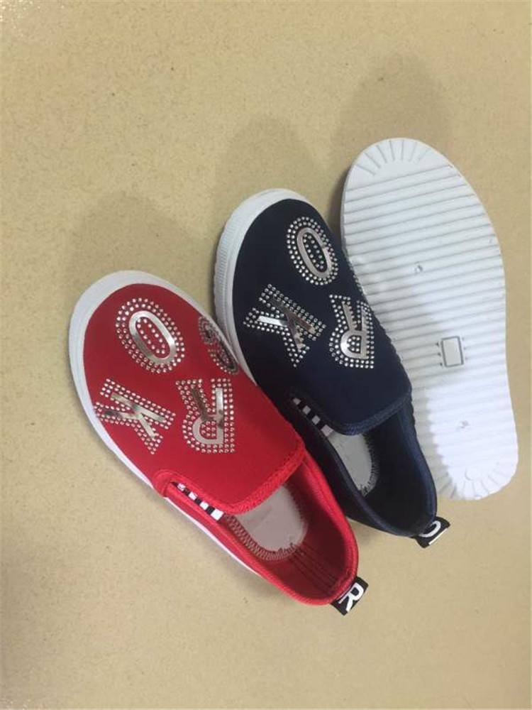 Latest designs of  children injection casual shoes slip-on shoes...